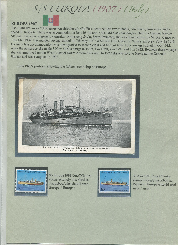 SS EUROPA – Italy – 1907